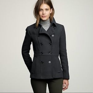 J crew stadium cloth peacoat Gray Nello Gori